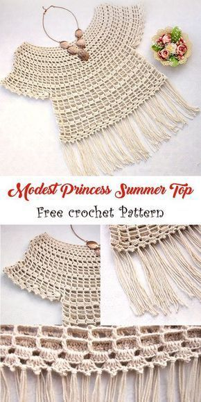 What an easy yet amazing summer top to try this year! Free crochet pattern linke…