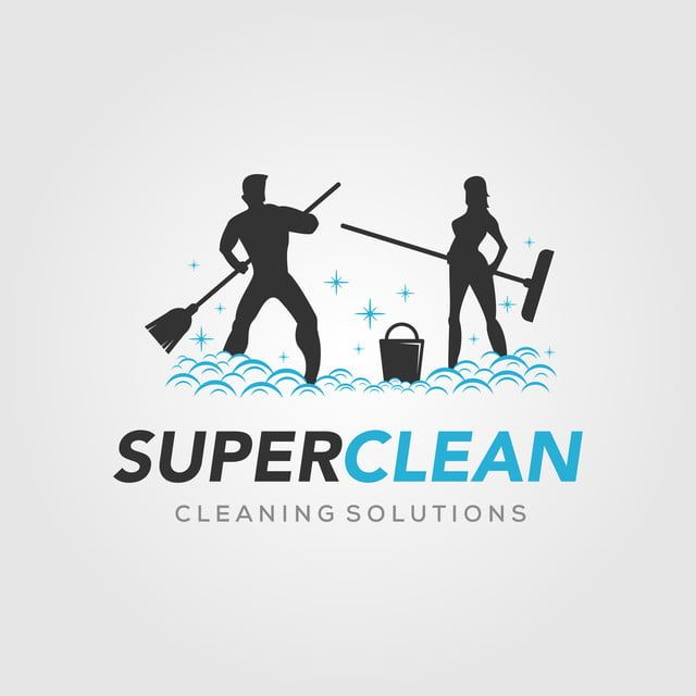 Super Clean For Cleaning Service Logo In 2020 Cleaning Service