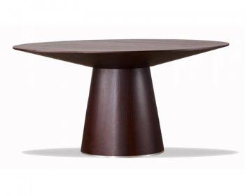 Dining Room Furniture Wenge Finish Contemporary Round Dining Table With  Thick Tapering Base It Is Important To Carefully Select Appropriate  Furniture Pieces ...