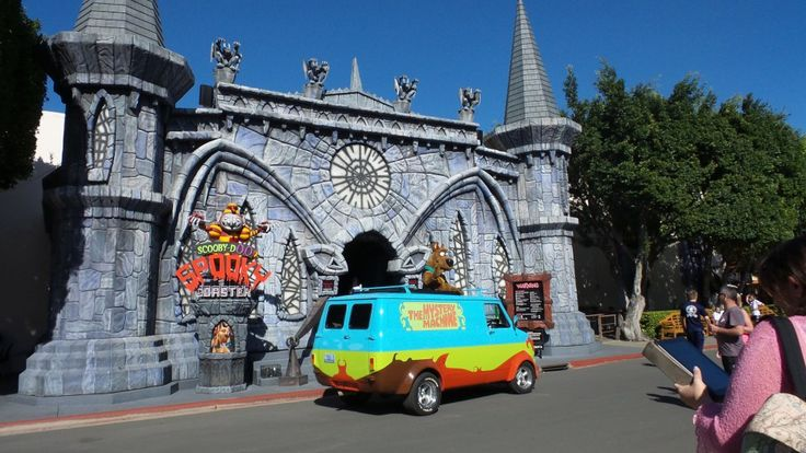 Scooby Doo Coaster at Movie World on the Gold Coast in Queensland, Australia