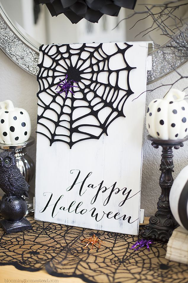 DIY Happy Halloween Sign 181 best Halloween