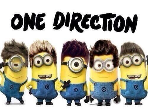 One Direction minions (: lmao. I can't, but I can. I love this