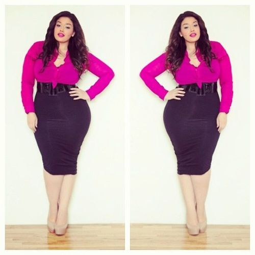 Hairstyles For Plus-Size Women | herinterest.com