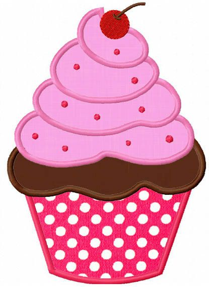 Cupcake Applique Machine Embroidery
