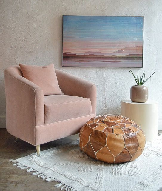 Adaptations At Home Blush Velvet Club Chair