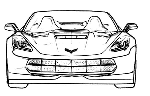 Corvette Cars Racing Cars Stingray Corvette Coloring Pages
