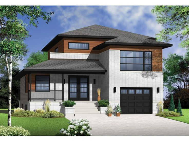Contemporary Modern House Plan With 1788 Square Feet And 3 Bedrooms From Dream Home Source