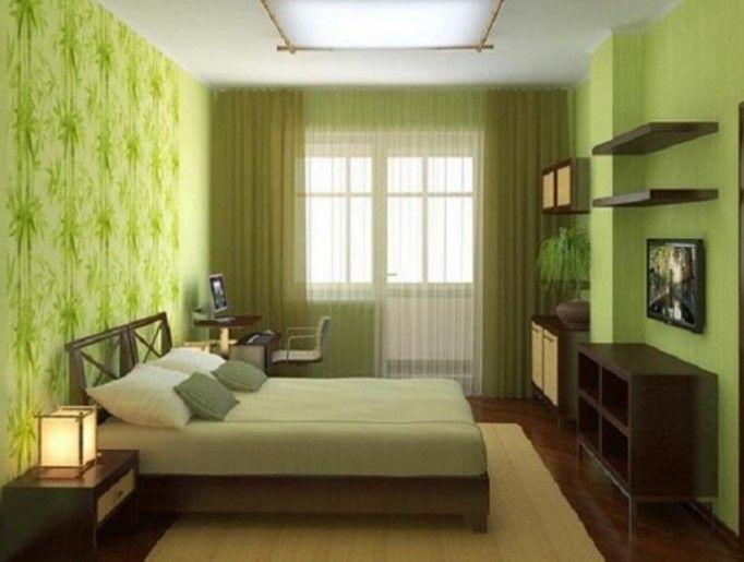 Model Warna Cat Terbaik untuk Desain Interior Kamar Kost 4 - Hijau Cokelat Kayu Natural