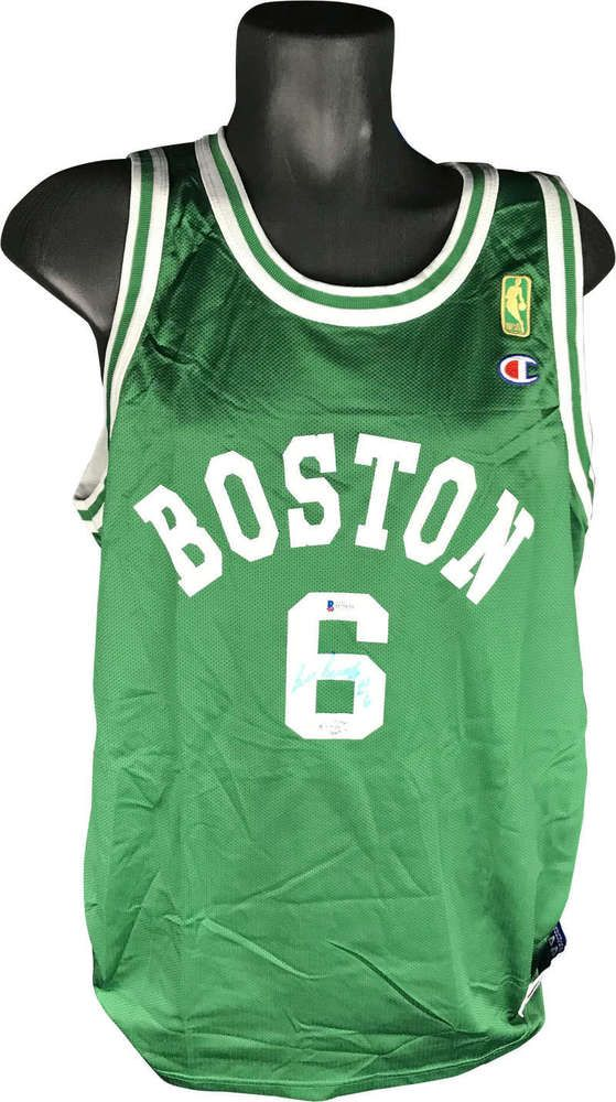 buy online 0c920 63631 Bill Russell Signed Autographed Boston Celtics Jersey ...