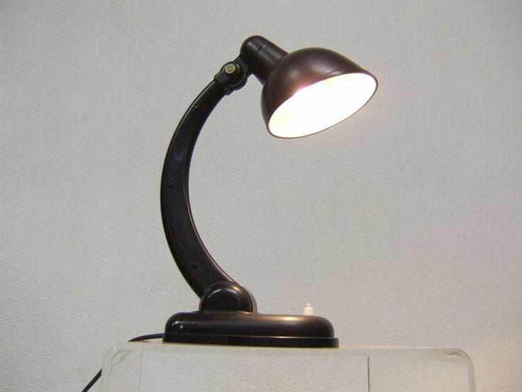 RARE Christian Dell 30s Desk Lamp Table Lamp Bakelite Sigma Streamline Art Deco | eBay