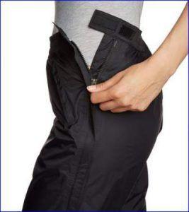 Full length zipper.
