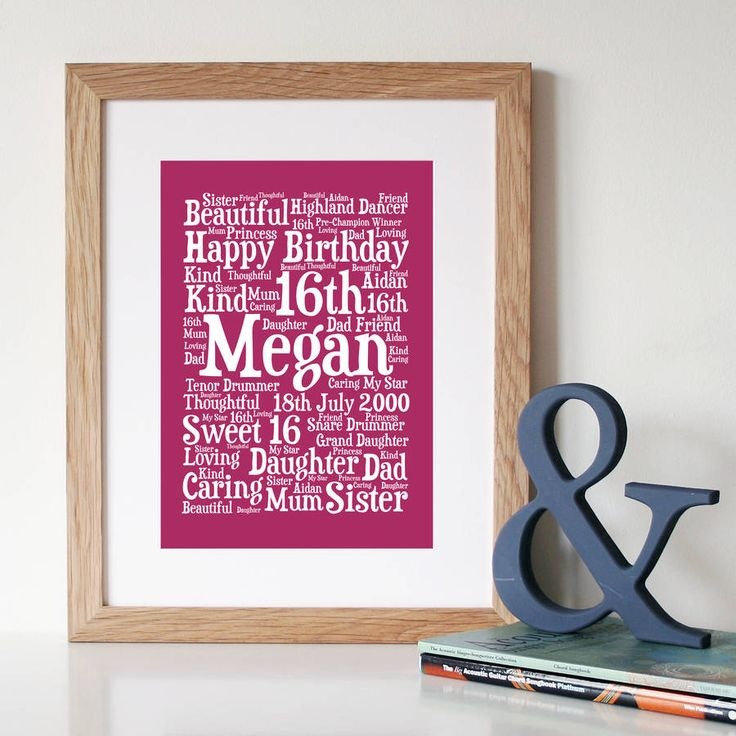 109 best a personalized word art images on pinterest word art personalised 16th birthday word art gift pronofoot35fo Choice Image