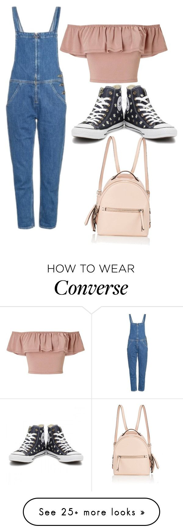 """Untitled #53"" by ranimhr on Polyvore featuring M.i.h Jeans, Miss Selfridge, Converse and Fendi"