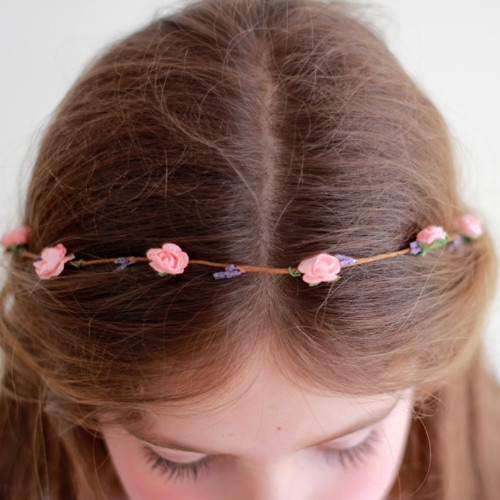 Corona de Madera Rosa by BelandSoph.com | BelandSoph.com: First Communion, Crown, Madera Rosa, Wood