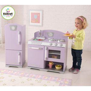 KidKraft Retro Kitchen and Refrigerator, Lavender