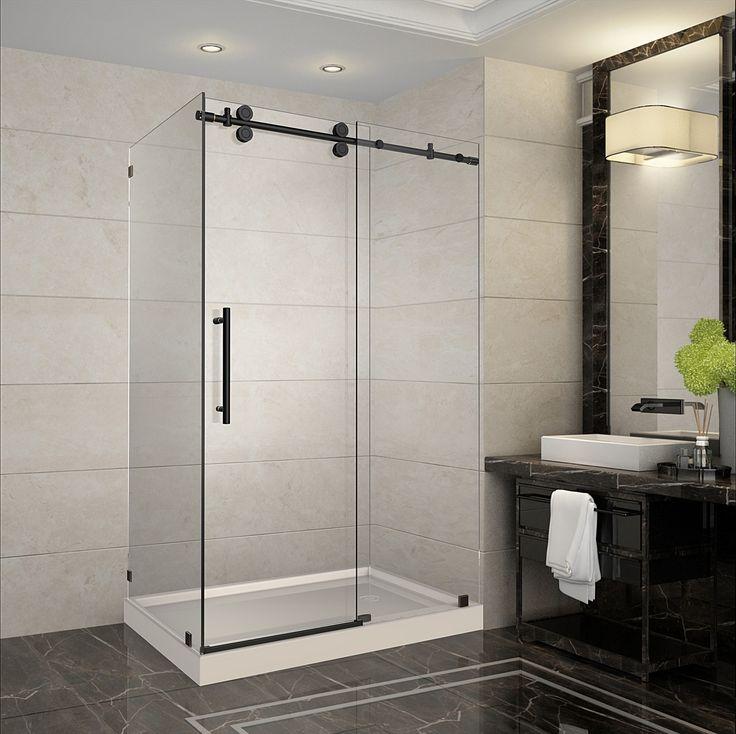 Best 12 SEN979 LANGHAM Completely Frameless Sliding Shower Door ...