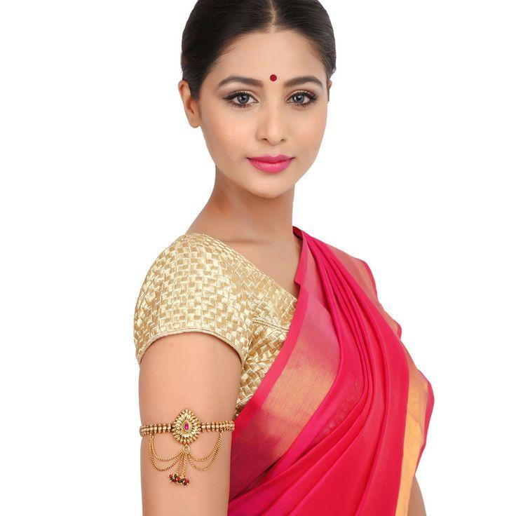 Antique  BajuBand 57027R #Kushals #Jewellery #Fashion #Indian #Jewellery #Wedding #Accessories #BajuBand #Antique #Festive