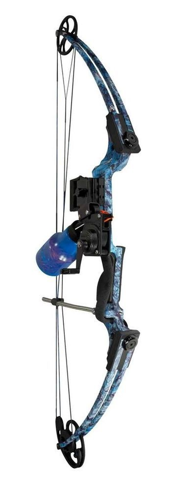 New 2015 AMS Fish Hawk Bowfishing Bow Kit RH Retriever Pro Reel & Blue Koi Arrow #AMS