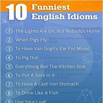 10 funniest English idioms