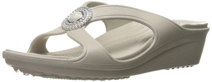 crocs Women's Sanrah Beaded W Wedge Sandal * Find out more about the great product at the image link.