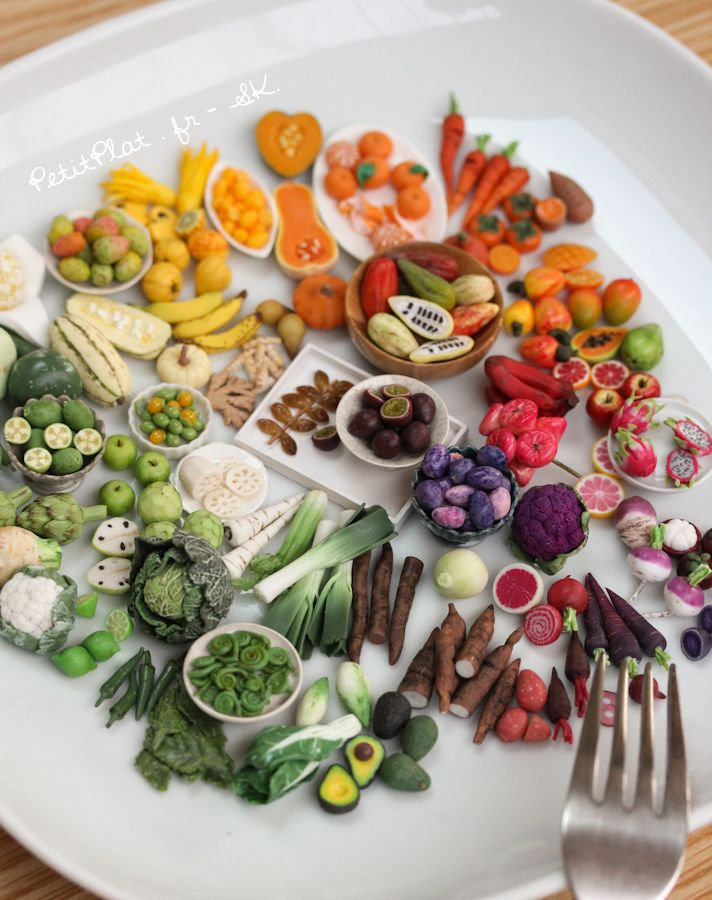 70 days of miniature fruit and veggies. My daily art challenge going it's colorful way.