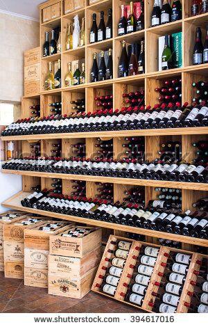 #wooden #racks #redwine #wine #bottles #shop #sell #drink #wineshop #bordeaux