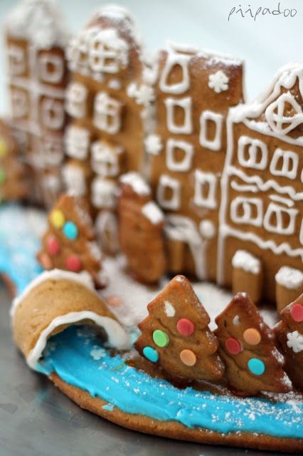 Amsterdam inspired gingerbread house