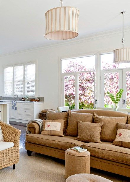 In the course of the renovation of the cottage, which dates from the 1800s, a new extension was added, housing the living area, kitchen and dining zone   Home Beautiful magazine Australia