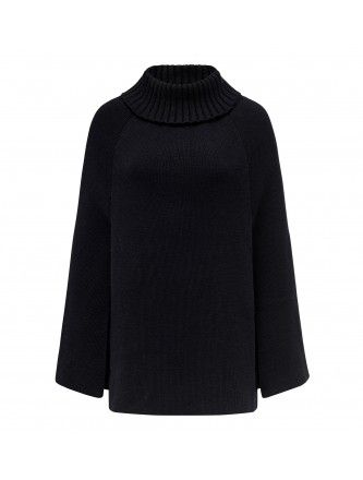 Georgie Roll Neck Cape Back Image