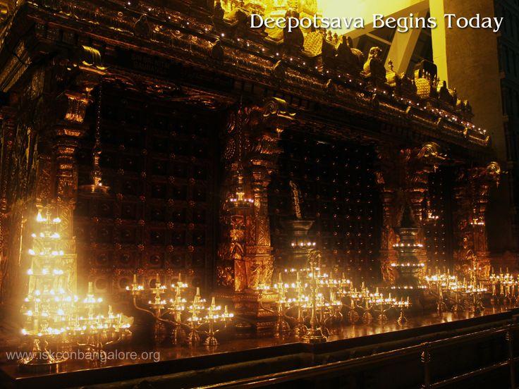 Deepotsava begins today. Celebrations starts from 7.30 pm & vishesha arati  to Sri Radha Krishnachandra at 8 pm.