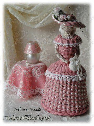 Поделка изделие Вязание крючком Плетение 3 года моему хобби Трубочки бумажные фото 5