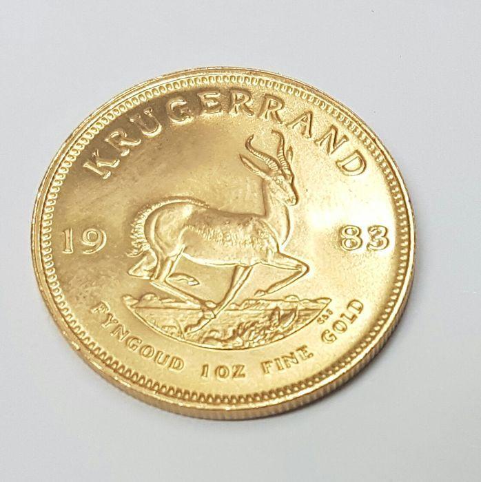 Gouden Krugerrand  Gouden Krugerrand De Zuid-Afrikaanse gouden Krugerrand is één van de bekendste gouden beleggingsmunten. De Krugerrand heeft een zuiverheid van 9167% weegt bruto 3393 gram en was de eerste gouden munt met een nettogewicht van 1 troy ounce zuiver goud ter wereld.Opgelet: Het jaartal kan anders zijn dan op de afbeelding. Wordt aangetekend en verzekerd verzonden met tracking codeU betaald per kavel verzendkostenKan ook worden afgehaald  EUR 1177.00  Meer informatie
