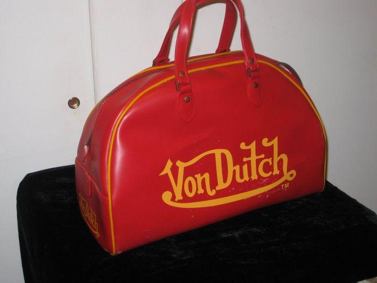 Von Dutch Kustom Madeoriginals Gym Bag Red | eBay
