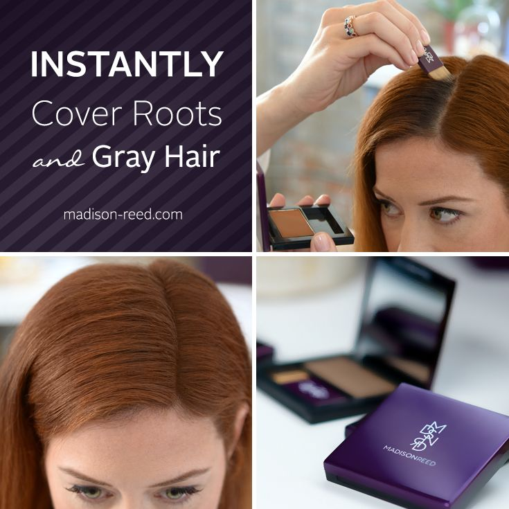 Cover your roots and grays in seconds with Root Touch Up from Madison Reed. Click to learn more! #haircolor