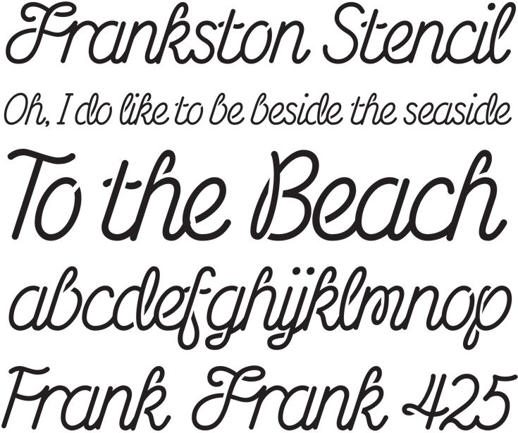Frankston Stencil Font. Commissioned by the Frankston City Council, FCC Script Stencil was developed for the stencilised 'bird-trail' that was developed as an extension of the 'To the Beach' urban marker installed in 2012. #typography #studio #melbourne #type #characters #letterbox #stephenbanham #frankstonstencil #frankston #stencil #font