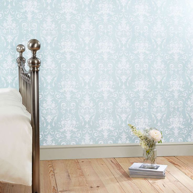 Dorma Duck Egg Regency Wallpaper   Dunelm
