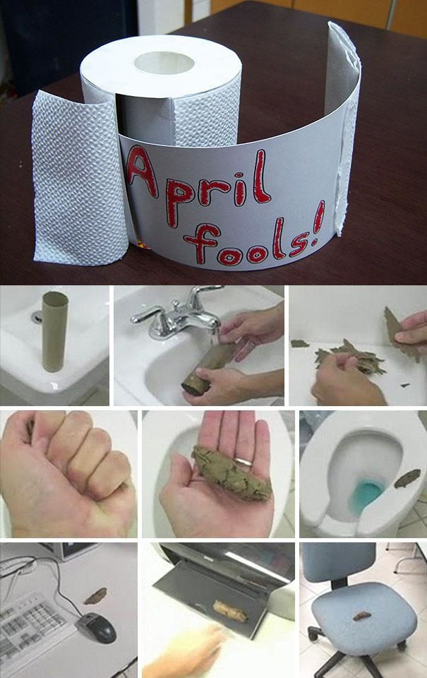 Leave a gross (and fake) surprise for unsuspecting bathroom goers.