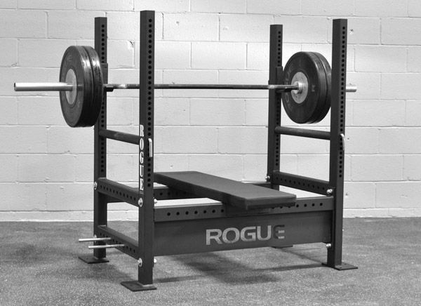 """Rogue Fitness - Westside Bench press. 1"""" hole spacing rather than 2"""" (or no hole spacing at all for those non-adjustable benches you find in the gyms). Great bench, perfect for personal or commercial gyms"""
