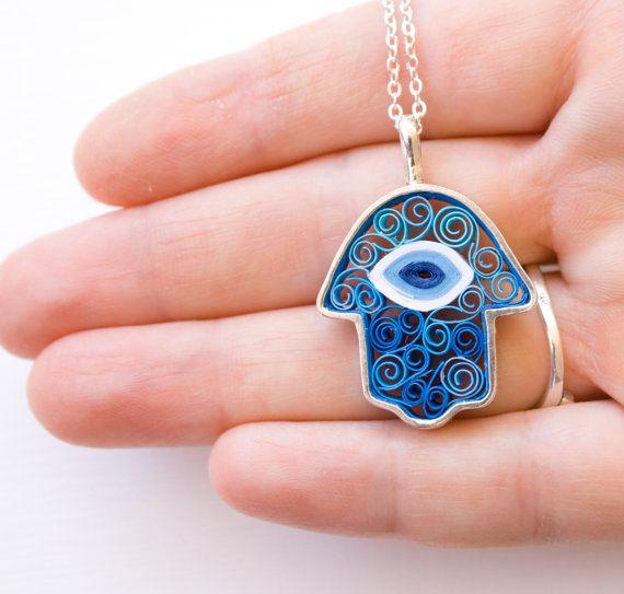 Birthday gift ideas.Jewelry. Hamsa charm necklace