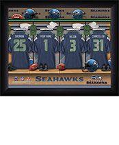 Personalized NFL Seahawks Locker Room Print $34.98