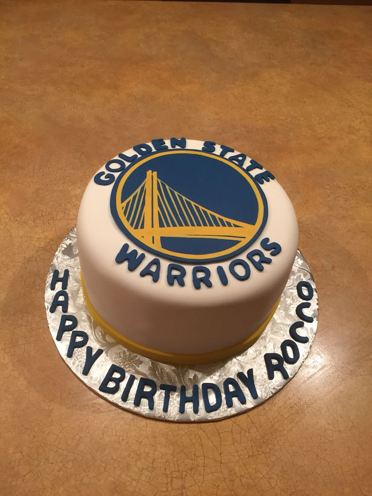 Golden State Warriors Cake Decorations