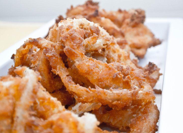 Onion rings… Quem também ama esses anéis de cebola empanados?