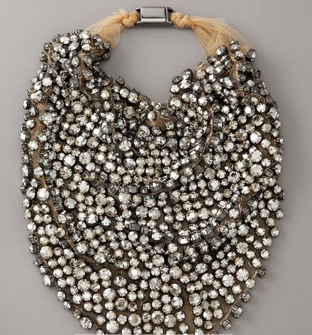 Rhinestone Bib Necklace by Vera Wang