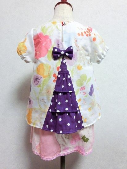 (100)モーリシャスのうしろフリルチュニック - handmade shop [KZ] by KeiZon ★ ちょっぴりオシャレなハンドメイド子供服 もっと見る