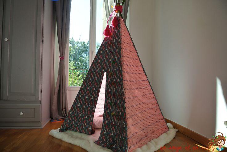 36 best teepee tipi cabane tente pour enfants images on pinterest tents child room and for. Black Bedroom Furniture Sets. Home Design Ideas
