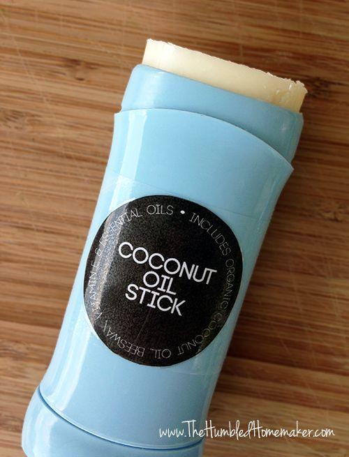 Homemade Coconut Oil Stick - TheHumbledHomemaker.com