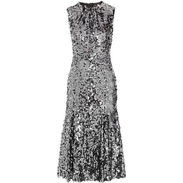 Dolce & Gabbana Sequined tulle midi dress (4,855 CAD) ❤ liked on Polyvore featuring dresses, dolce & gabbana, vestidos, midi skater skirt, sequin dress, fitted cocktail dresses, flared skirt and sequin cocktail dresses
