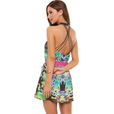Cooper St Digital Mosaic Halter Dress Dresses Available in Multi - Fashion Brand Sale