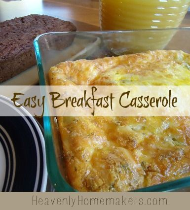 Easy Breakfast Casserole This reminds me of the breakfast casserole that they used to have at Cracker Barrel.  yum.