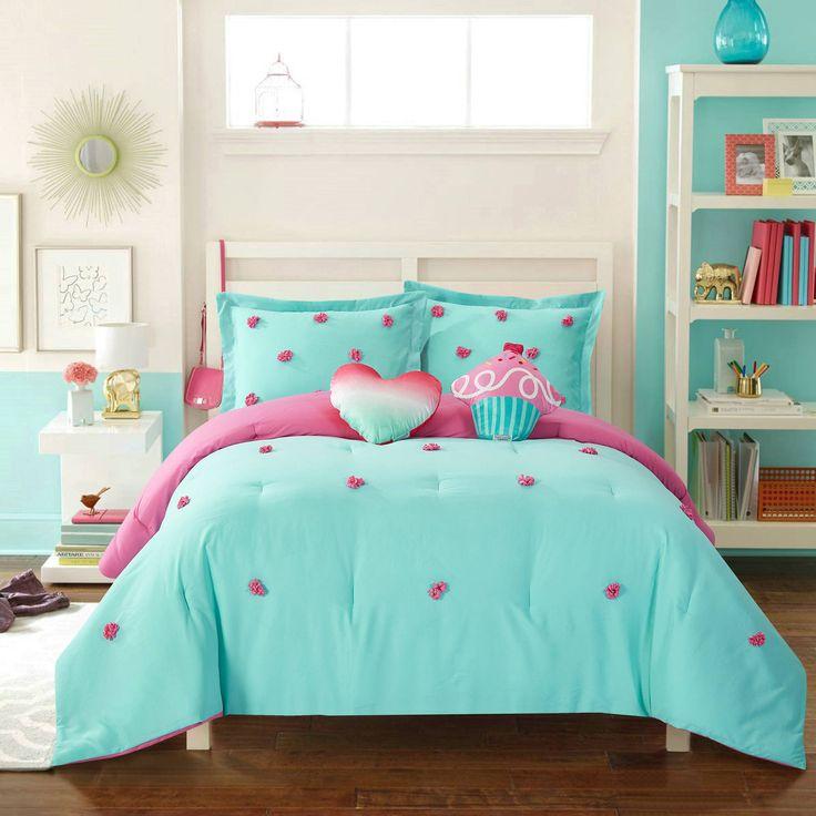 Better Homes And Gardens Kids Pom Pom Comforter Set Sisters Bedroom Makeover